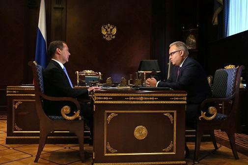 Состоялась встреча премьер-министра РФ Дмитрия Медведева и главы ФСК ЕЭС Андрея Мурова
