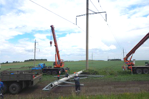 ФСК ЕЭС установит 68 новых опор на сибирских линиях электропередачи