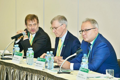 Andrey Murov, Head of FGC UES, and Philippe Adam, Secretary General of CIGRE, Opened the Meeting of the International Colloquium on Information Systems and Communications