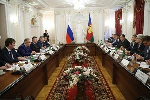 Председатель Правления ФСК ЕЭС Андрей Муров обсудил развитие энергетической инфраструктуры Краснодарского края