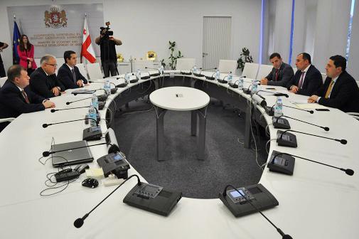 Глава ФСК ЕЭС встретился с Первым вице-премьером Грузии и руководством совместной компании «СакРусэнерго»