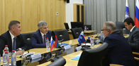 The working meeting of the Chairman of the Management Board of FGC UES, Andrey Murov, and the Head of the Republic of Karelia, A. Parfenchikov, was held